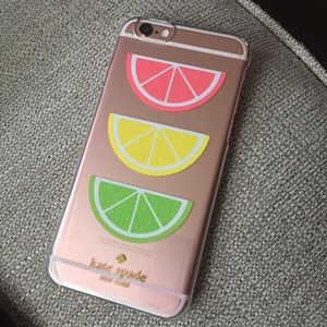 Kate spade glitter fruit phone case iPhone 6/6s